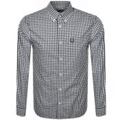 Fred Perry Gingham Check Shirt Blue