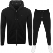 Emporio Armani Full Zip Hooded Tracksuit Black
