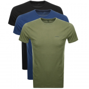 Diesel UMTEE Jake triple Pack T Shirts Khaki