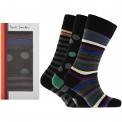 Paul Smith Gift Set 3 Pack Socks Black