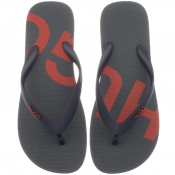 HUGO On Fire Flip Flops Navy