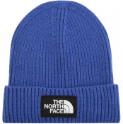 The North Face Logo Beanie Hat Blue