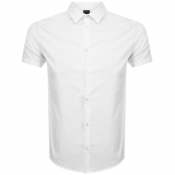Emporio Armani Short Sleeved Slim Fit Shirt White