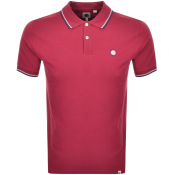 Pretty Green Barton Tipped Polo T Shirt Red