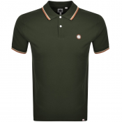 Pretty Green Barton Tipped Polo T Shirt Green