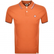 Pretty Green Barton Tipped Polo T Shirt Orange
