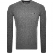 Jack Wills Marlow Cable Knit Jumper Grey