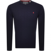 Jack Wills Marlow Cable Knit Jumper Navy
