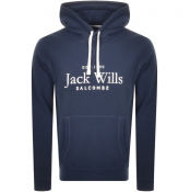 Jack Wills Batsford Wills Hoodie Navy