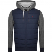 Jack Wills Burston Full Zip Hoodie Navy
