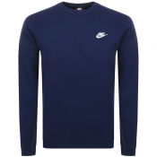 Nike Crew Neck Club Sweatshirt Navy