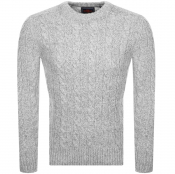 Product Image for Superdry Orange Label Jacob Crew Knit Jumper Grey
