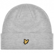 Lyle And Scott Ribbed Beanie Hat Grey
