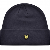 Lyle And Scott Ribbed Beanie Hat Navy