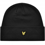 Lyle And Scott Ribbed Beanie Hat Black