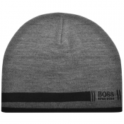 Product Image for BOSS Athleisure Knit Beanie Hat Grey