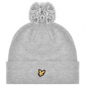 Lyle And Scott Bobble Beanie Grey