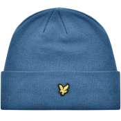 Lyle And Scott Ribbed Beanie Hat Blue