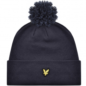 Lyle And Scott Bobble Beanie Navy