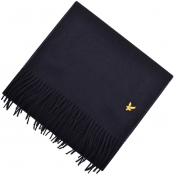 Lyle And Scott Plain Lambswool Scarf Navy