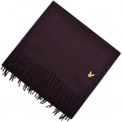 Lyle And Scott Plain Lambswool Scarf Burgundy