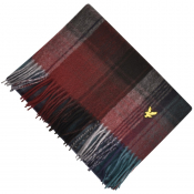 Lyle And Scott Tartan Woven Scarf Burgundy