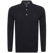 Pretty Green Grandad Long Sleeve T Shirt Black