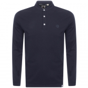 Pretty Green Grandad Long Sleeve T Shirt Navy