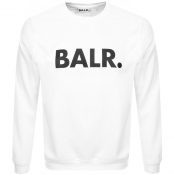 Product Image for BALR Brand Crew Neck Sweatshirt White