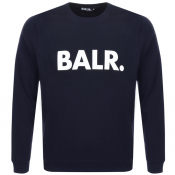 Product Image for BALR Brand Crew Neck Sweatshirt Navy