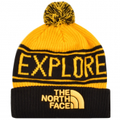 The North Face Retro Pom Beanie Hat Yellow