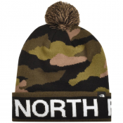 The North Ski Tuke Pom Beanie Hat Green
