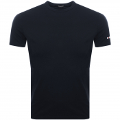 DSQUARED2 Crew Neck Logo T Shirt Navy
