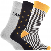 Product Image for Gant Three Pack Socks Gift Set Grey