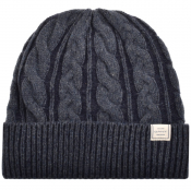 Gant Winter Faded Beanie Hat Navy