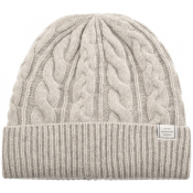 Product Image for Gant Winter Faded Beanie Hat Grey