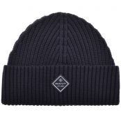 Product Image for Gant Logo Knit Beanie Hat Navy