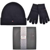 Product Image for Tommy Hilfiger Beanie Hat And Gloves Gift Set Navy
