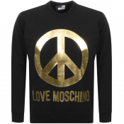 Love Moschino Peace Logo Sweatshirt Black