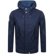 Pretty Green Cooper Hooded Parka Jacket Navy