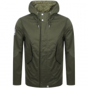 Pretty Green Cooper Hooded Parka Jacket Green