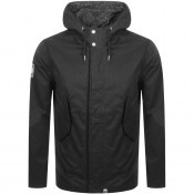Pretty Green Cooper Hooded Parka Jacket Black
