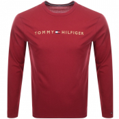 Tommy Hilfiger Lounge Long Sleeved T Shirt Red