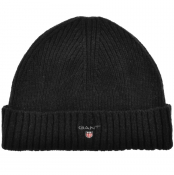 Product Image for Gant Wool Lined Beanie Hat Black