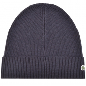 Product Image for Lacoste Ribbed Beanie Navy