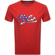 Ralph Lauren  Crew Neck Logo T Shirt Red