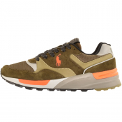 Ralph Lauren Track Star Suede Trainers Green