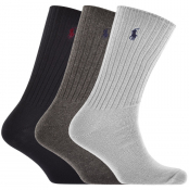 Ralph Lauren 3 Pack Socks Grey