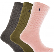 Ralph Lauren 3 Pack Socks Pink