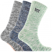 Product Image for Superdry Mountaineer Triple Pack Socks Green